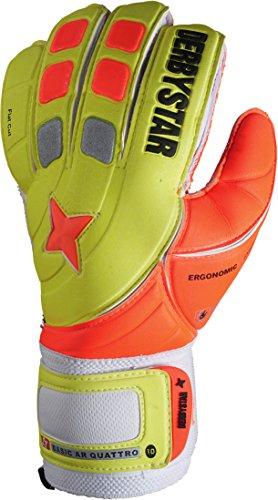 Derbystar Torwarthandschuhe Basic AR Quattro, Gelb/Orange, 10, 2585100000