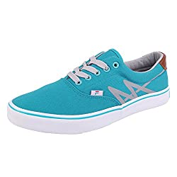 Fila Men Aqua Green Grey Synthetic Lifestyle Shoes