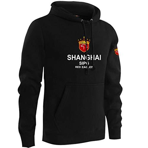QAZWSX Männer Shanghai Shanghai Team Uniform Fußball Kleidung Oscar Hook Kapuzenpullover Männer Und Frauen Sowie Samtjacke Mit Mütze Fans Kleidung -