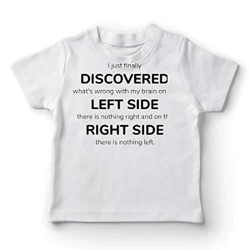 lepni.me Kinder Jungen/Mädchen T-Shirt Auf der linken Seite gibt es Nichts mehr, auf der rechten Seite Nichts mehr. (9-11 Years Weiß Mehrfarben)