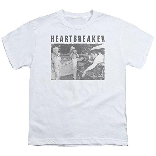 Heartbreaker-Elvis Presley-Maglietta per ragazzi Bianco bianco