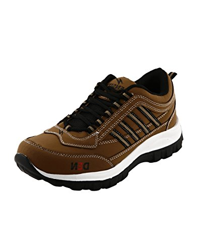 Corpus Men's Density Brown Color Leather Running Shoes-10  available at amazon for Rs.498