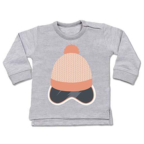 Sport Baby - Ski Snowboard Brille Mütze - 18-24 Monate - Grau meliert - BZ31 - Baby Pullover
