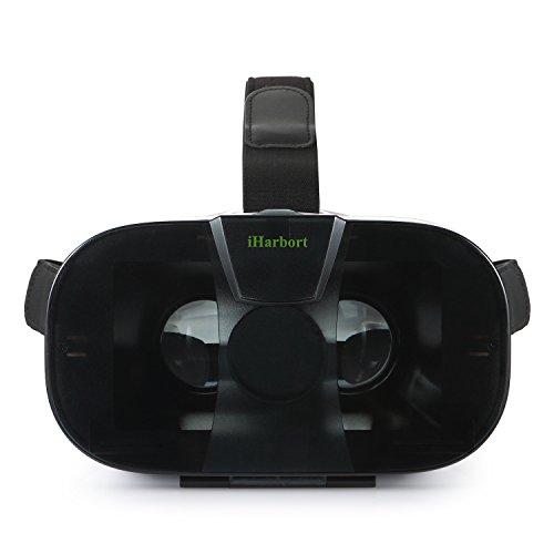 iHarbort® Universalle 3D VR Brillen Virtuelle Realität Kopfhörer VR Gläser Google Cardboard für 4.0-6.0 Zoll Smartphones (iPhone 6 6 Plus, Samsung Galaxy S6 usw..) - Weiß I