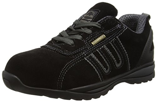 Groundwork GR86 Zapatos de Seguridad de Cuero, Unisex, Negro (Black/Grey), 43 EU (9 UK)