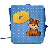 Kinder-Rucksack mit Namen Eddi und schönem Bären-Motiv für Jungen