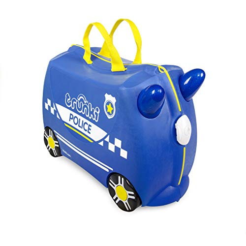trunki Ride-On Koffer befahrbarer Kindertrolley 46 cm Percy Police