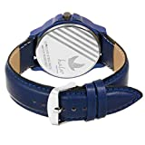 Hala Fashion Analogue Leather Blue Dial Day and Date Functioning Men's Watch