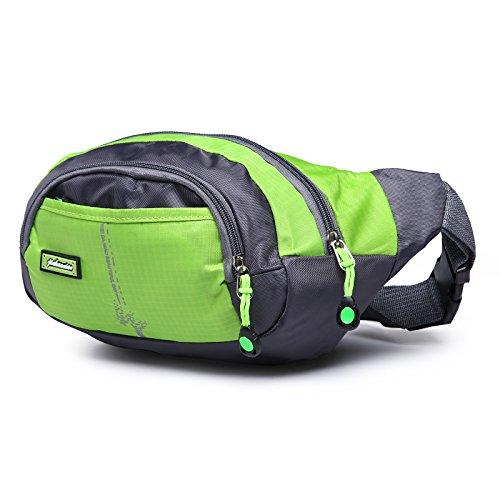 opethome Gurt Reise Sport Laufen Taille Tragetasche mit Stauraum Mesh Tasche für Wandern Camping schwarz - schwarz