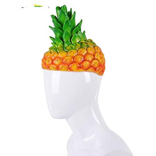 Erwachsene Halloween-Karnevals-Partei-Fantastische Ananas Cosplay Karikatur-lustige Frucht-Kostüm-Hüte, gelb (Halloween Kostüm Ananas)