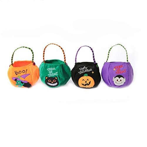YeahiBaby 4PCS Kürbis Süßigkeits Halter Trick or Treat Halloween Süßigkeits Eimer Party Bevorzugungen