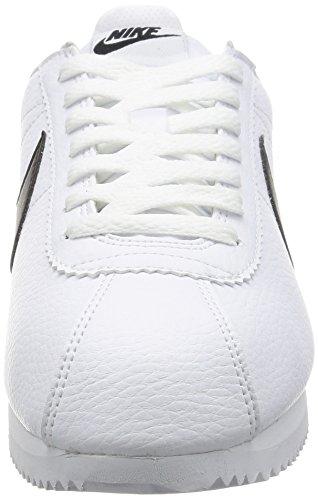 Nike Classic Cortez Leather, Scarpe da Corsa Uomo, Bianco Bianco (White/Black)