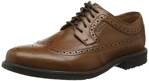 Rockport Men Essential Details II Wingtip Brouges Shoes, Brown (Tan Antique Leather), 10 UK 44 1/2 EU