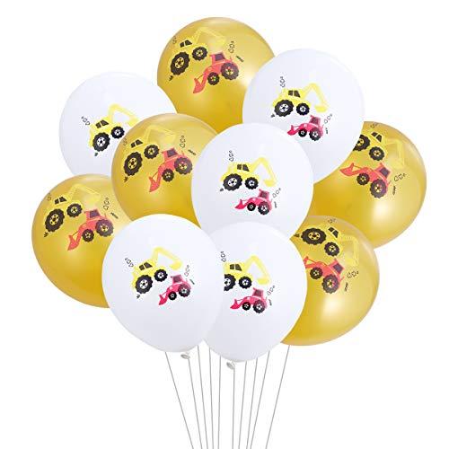 TOYANDONA BAU Geburtstag Luftballons Dekoration Party Supplies Fahrzeug Party Favors 10st