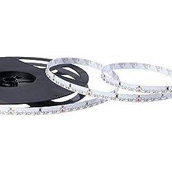 Novedad: nevera Glow LED Stripe de color blanco cálido, 120ledes/m, 24V, 9,6W/M, 3000K, Ra > 80, Nano revestimiento de, rollo de 5m, color blanco