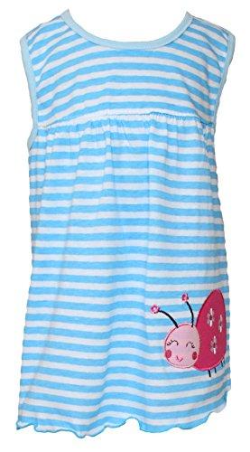 Sommer SALE! Sommerkleid   Shirt-Kleid Pincess Taufkleid Modell 13 blau gestreift mit Käfer