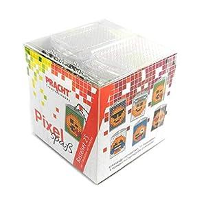 Pracht Creatives Hobby Pixel Divertido Set de 25 para Crear 6 medallones, Llavero, para niños, niños y niñas, Ideal como pequeño Regalo, obsequio, para cumpleaños Infantiles