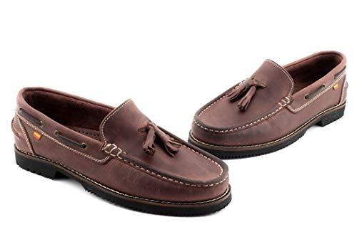 Zapato Nautico Tipo Apache - Hombre Color: Burdeos Talla: 44