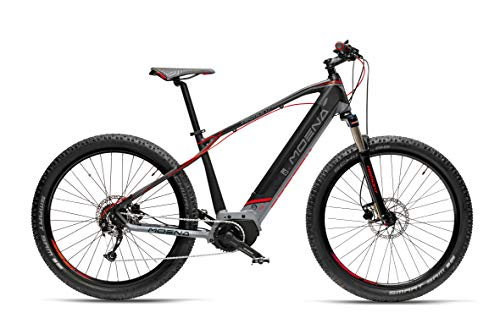 "Armony Moena, Bicicletta Elettrica Unisex Adulto, Nero Grigio Rosso, 27.5\"""