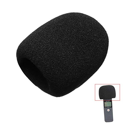 WJDASM microfono Parabrezza Microfono Spugna Microfono antivento Copertura filtro in schiuma per ZOOM H1 H 1 H 1 Pratico registratore Parabrezza Schermo pop-up Filtro, Nero
