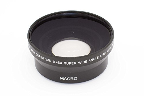 vhbw Weitwinkel Vorsatzlinse Objektivgewinde 72mm, Faktor 0,45x für Kamera Nikon, Olympus, Panasonic, Pentax, Ricoh, Samsung.