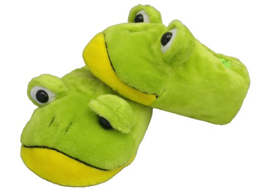 Plush Slippers Size S to XL Frogs