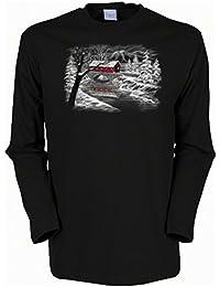 Weihnachten Langarm Shirt 4 Girls: Winterlandschaft