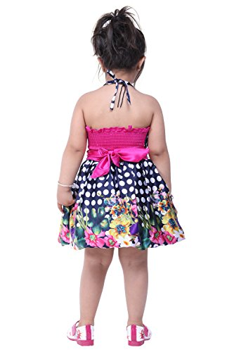 Kuchipoo Baby Girl Party Wear Dress (KUC-FRK-140 Royal Blue and Pink 6 Months -1.5 Years)
