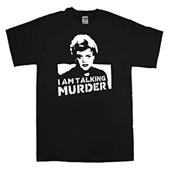 Mens Murder She Wrote T Shirt - Deadly Lady - Black - Small