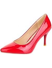 Donna Vernice 12 Rosso Scarpe 8 Da Amazon Tacco it Cm OqwtnRxz
