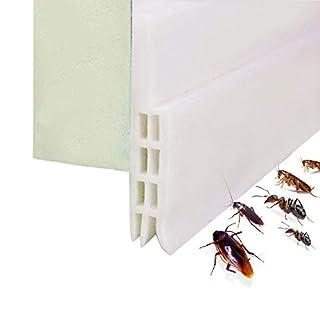 Expower Selbstklebende Tür Türdichtung Dichtungsstreifen Zugluftstopper gegen Insekt Ersatzdichtung Wetterfest Blocker Schalldichtung Silikon Türstopper 100*5cm