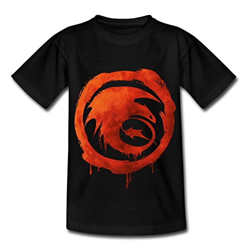 dreamworks-dragons-icon-strike-class-watercolour-teenage-t-shirt-by-spreadshirtr-134-146-9-11-years-