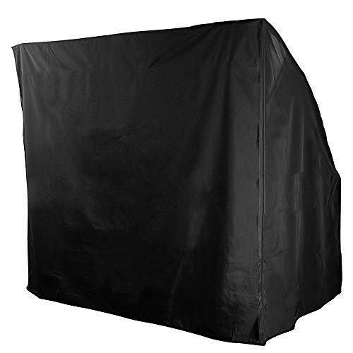bennyuesdfd 3-Sitzer Hollywoodschaukel, wasserdicht, für den Außenbereich, Garten, Terrasse, Sonnenschutz, Sonnenschutz, Sonnenschutz, Abdeckung für Sonnenliegen, 220 x 170 x 145 cm, Schwarz