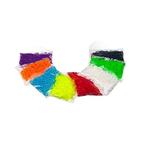 DEAL Loom Bandz -4800 pc Rubber Band Refill Count With 192 s clips Rainbow Colors - 600 of each colour, colours may vary