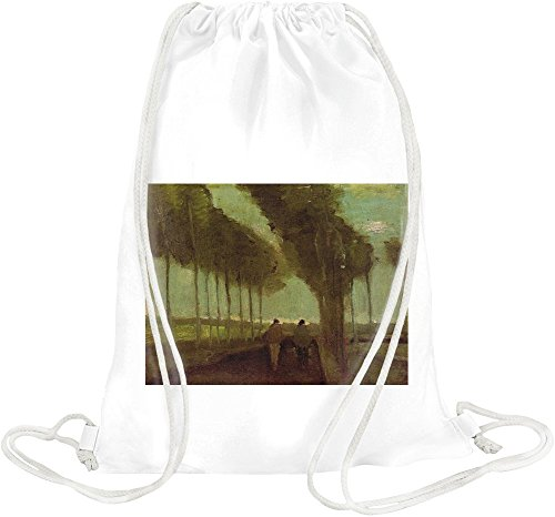 Country Lane With Two Figures Van Gogh Painting Drawstring bag Country Lane