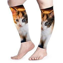 zhulaowufenbaoyouxi Männer Frauen Feed Kitten Calf Compression Sleeve Print Beinstütze Wadenschoner Ärmel Wadenschmerzlinderung beim Laufen