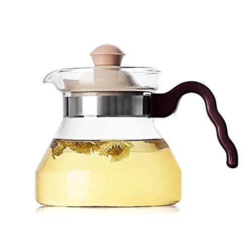Théière en Verre résistant à la Chaleur Bouilloire Droite Cuisinière à gaz Pot Bouteille d'eau à Usage Domestique 400ml GAODUZI