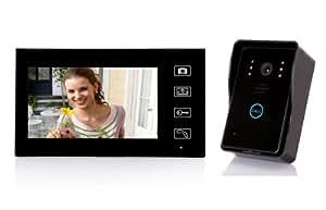 Visiophone Sans Fil Solaire - Mobile - Prise Photos - Interphone Video couleur écran 18cm - Portée 100 m Touches Tactiles