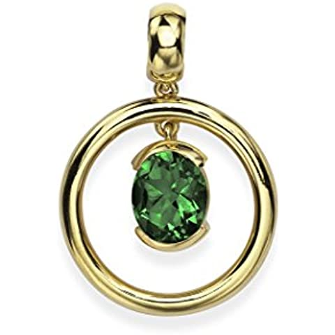 Ansuini Navona Ciondolo Light Donna Oro Giallo con pietra preziosa naturale Made in Italy