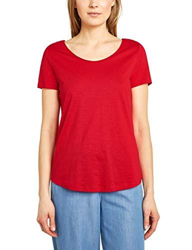 Street One Damen Gerda T-Shirt, Rot (Vivid red), Herstellergröße:36 -