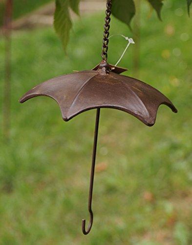 Pw Metall Futterstation Regenschirm mit Haken Gartendeko Vögel Meisenknödel Hänger