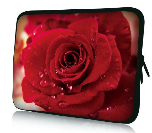 wortek Universal Notebooktasche Schutzhülle aus Neopren für Laptops bis ca. 15,4 Zoll - Rose Rot