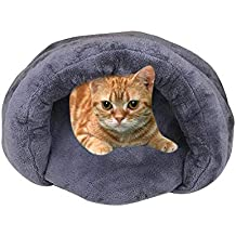 KOBWA - Cama para Mascotas con Forma de Concha para Gatos y Perros pequeños, cómoda
