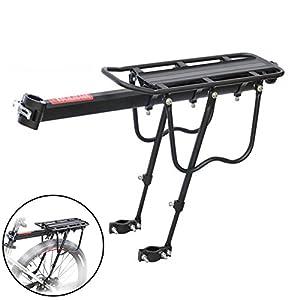 Dxlta Aleación de Aluminio del Estante de Asiento Trasero de la Bici de la Bicicleta para Montar en Bicicleta Soporte del Freno de Disco del Soporte del Recorrido