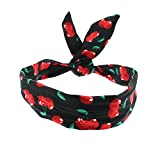 Clothing Accessories Best Deals - Zac's Alter Ego® Rockabilly Cherry Print Wire Headband
