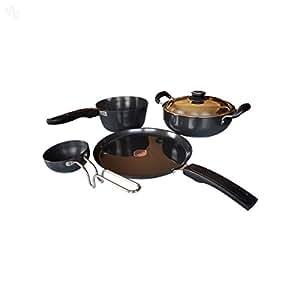 Metallino Hard Anodised Cookware - 5-Piece Set - Premium