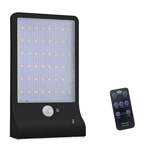 T&SHY Luz de Calle de la iluminación de la lámpara de la inducción llevada del Cuerpo Humano, iluminación del país iluminación casera Regulable jardín lámpara de Pared Impermeable Solar al Aire Libre