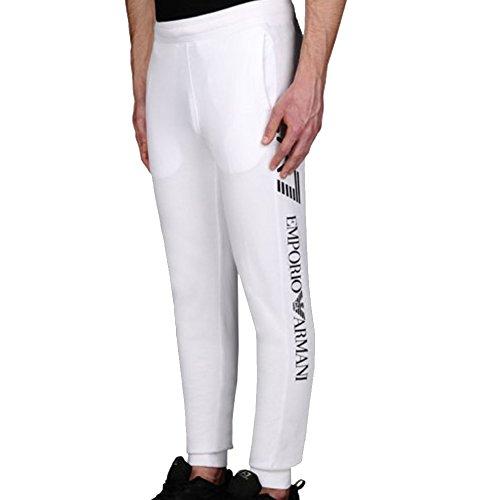 Pantaloni da jogging UOMO TRENO GRAFICHE EA7 EMPORIO ARMANI BIANCO (M, BIANCO)
