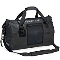 Earth Pak Waterproof Duffel Bag- Perfect for Any Kind of Travel, Lightweight, 50L & 70L Sizes, Large Storage Space, Durable Straps and Handles, Heavy Duty Material to Keep Your Gear Safe 50L black