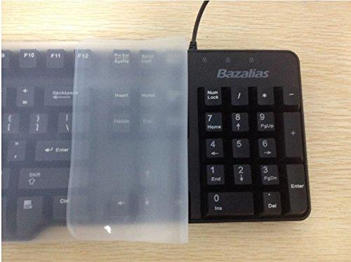 honeysuck Universal PC escritorio teclado Skin Protector de silicona impermeable de silicona–blanco